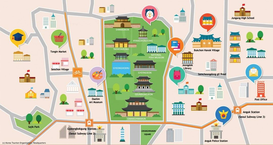 Get Lost Or Not In Seoul With These Helpful Maps Seoul Attractions Korea Map Seoul Map