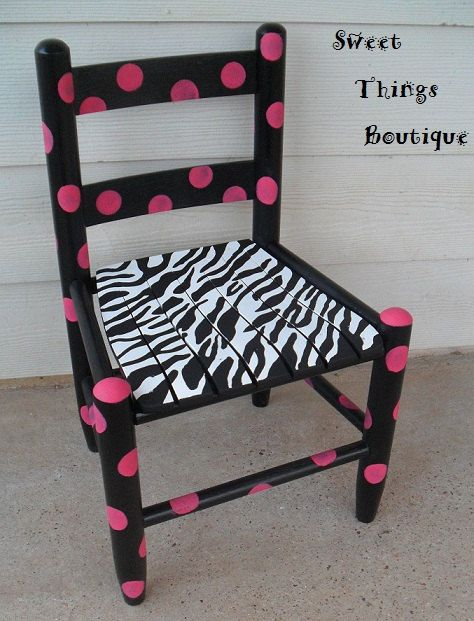 Zebra Funky Polka Chair by SweetThingsBoutique1 on