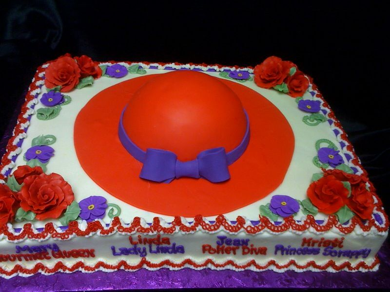 Red Hat Society Cake 4-17-12  www.yourcakeplace.com