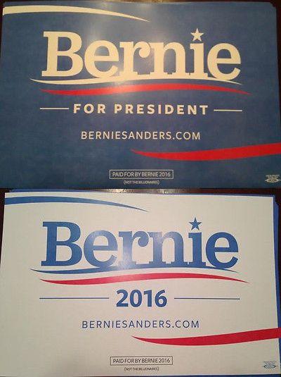 Bernie Sanders: (2) Bernie Sanders Campaign Poster 2016 Democratic Next President #Feelthebern -> BUY IT NOW ONLY: $24.99 on eBay!