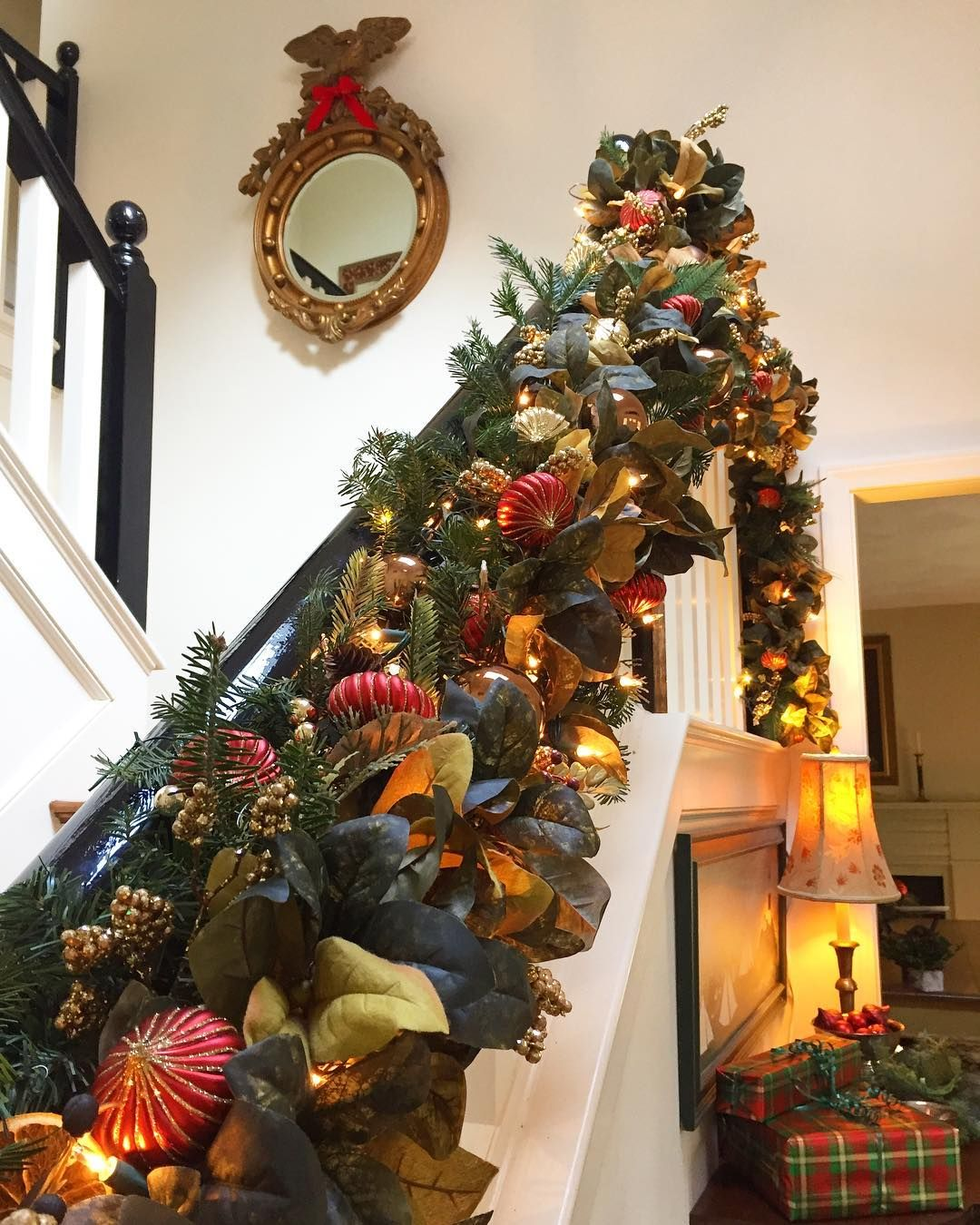 It S Beginning To Look A Lot Like Christmas Everywhere You Go Take A Look In The Five And Ten Christmas Garland Christmas In England Magnolia Leaf Garland