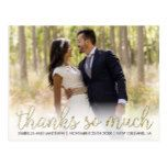 #gold - Personalizable Photo   Gold Glitter Thanks So Much Postcard