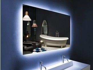 Miroir mural de style contemporain avec clairage int gr pour salle de bain neutro antonio for Miroir mural design italien