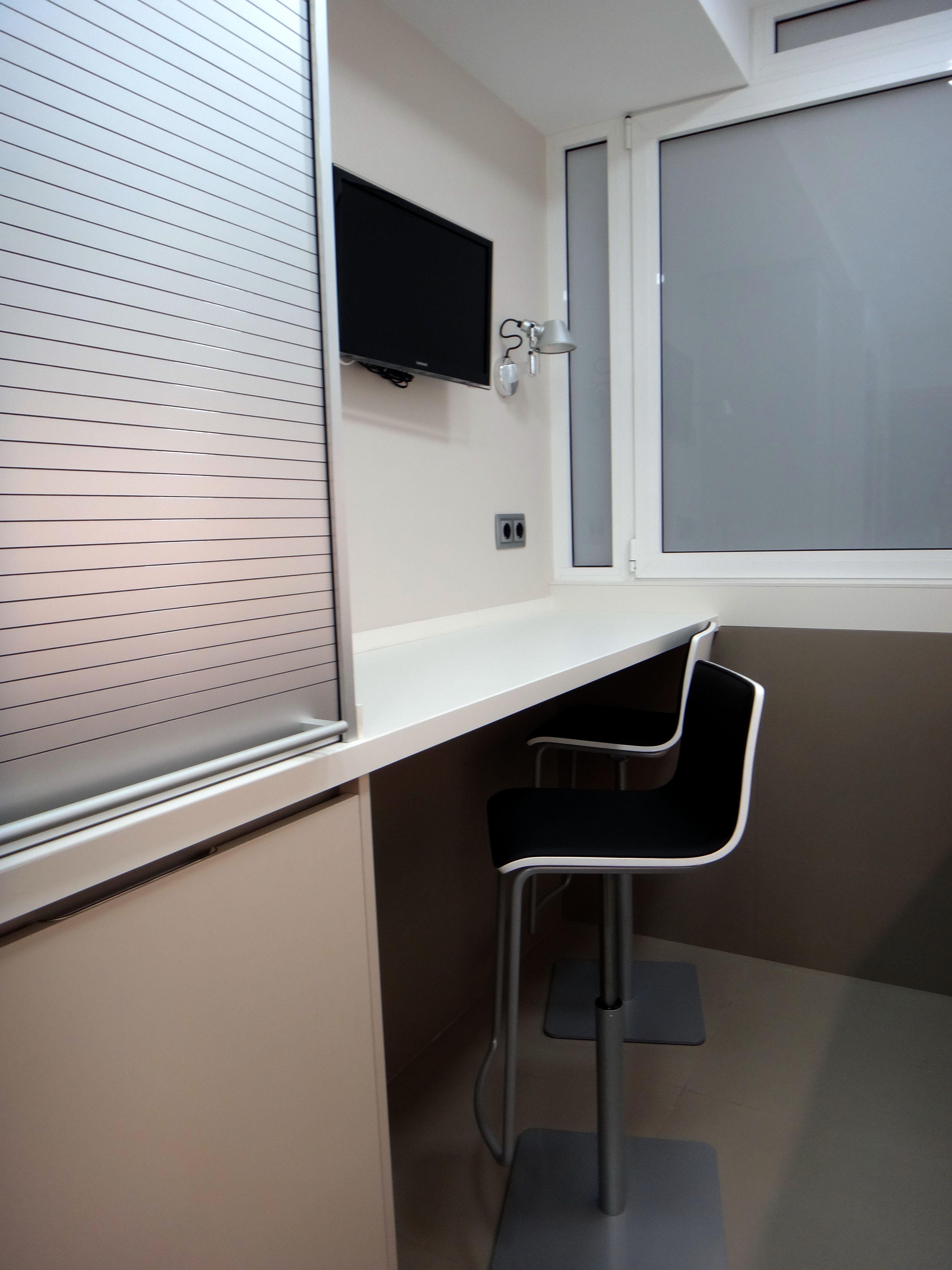 Barra de cocina integrada en mobiliario santos modelo - Taburetes barra cocina ...