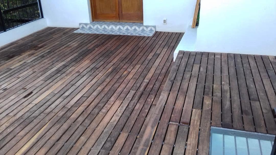 Instalación De Deck De Madera Ipe En Terraza Y Jardín De