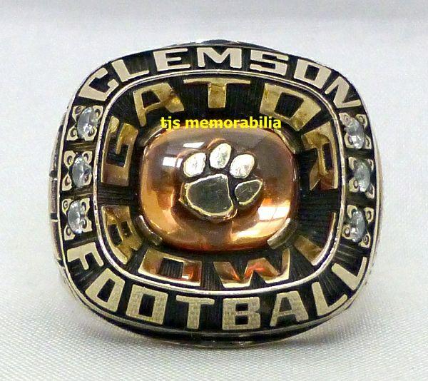 2009 Clemson Tigers Gator Bowl Championship Ring Gator Bowl Championship Rings Clemson Tigers