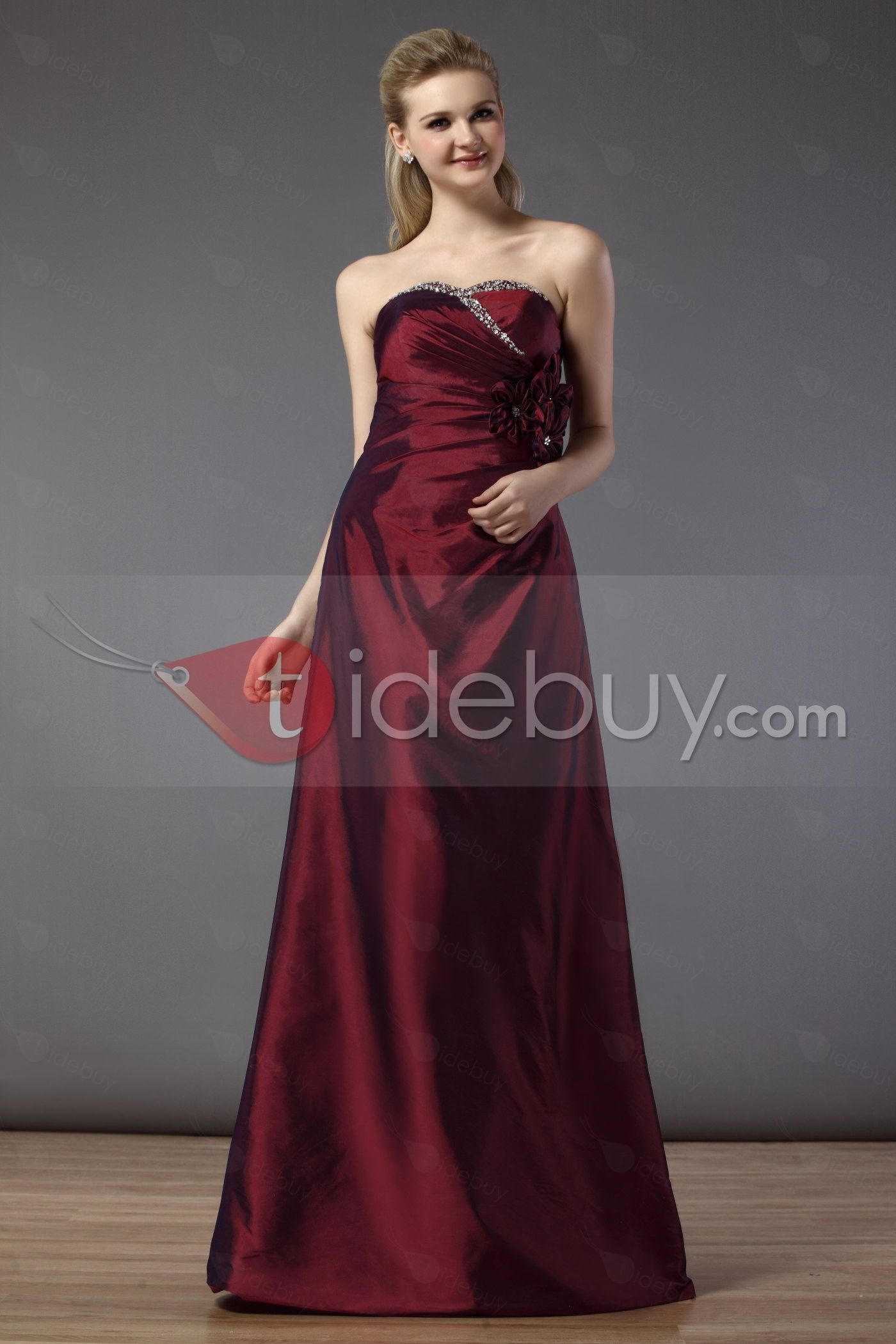 #Sweetheart #Popular #Neckline Charming A-line Sweetheart Neckline Floor-Length Bridesmaid Dress