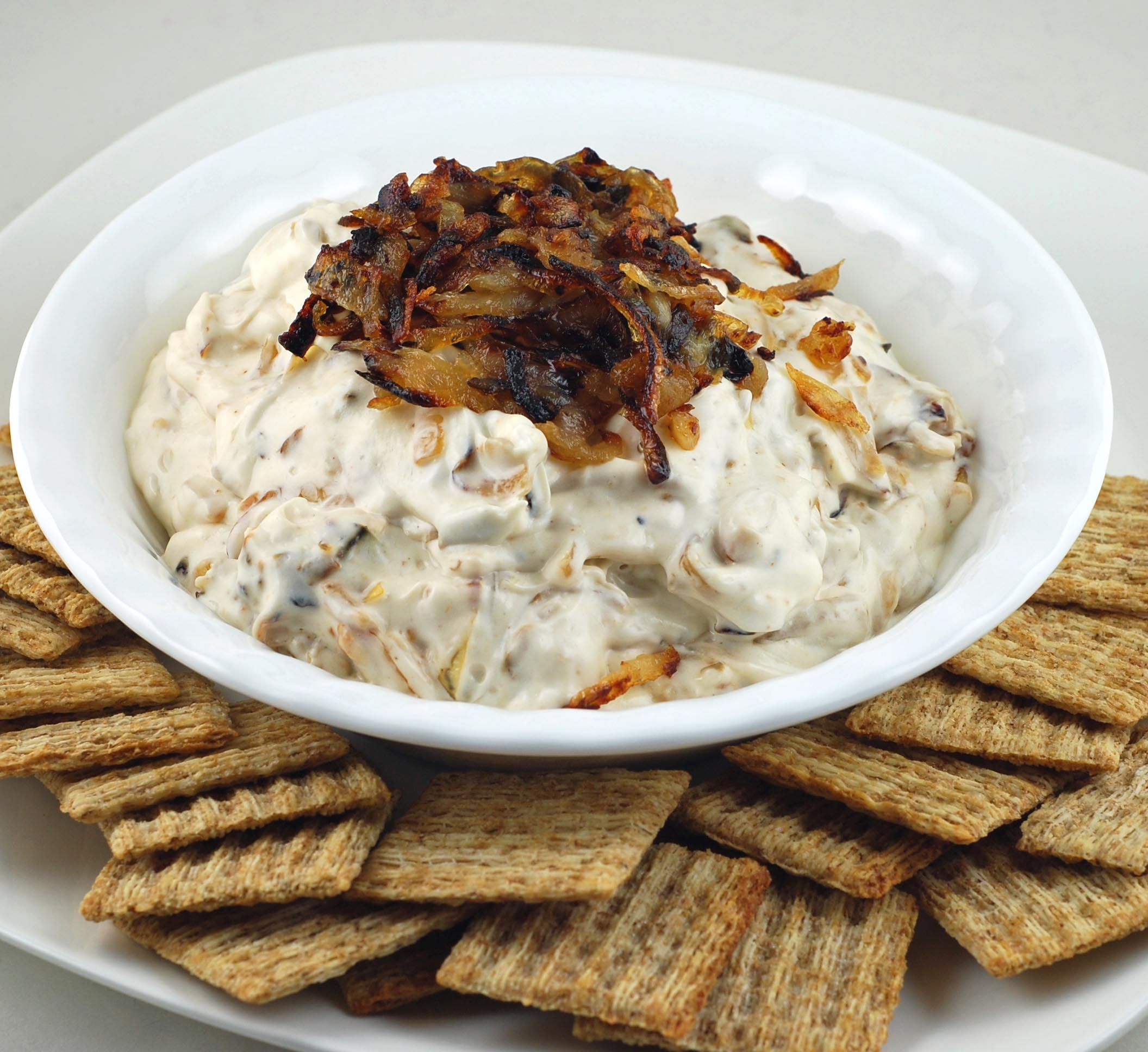 Barefoot Contessa's Pan Fried Onion Dip. Creamy And