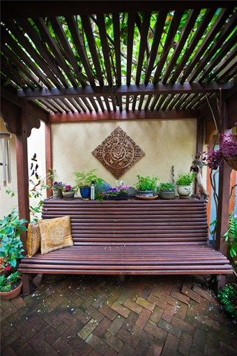 Bench Seating Area Landscaping Network Calimesa Ca I Love This Zen Meditation Garden Outdoor Meditation Meditation Space Outdoor