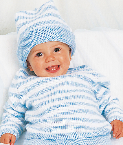 Ravelry: Stripe Jumper with Matching Hat pattern by Patons Australia ...