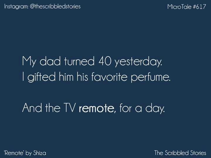 And the tv remote for a day. Best gift ever. #PrettyShortStories.