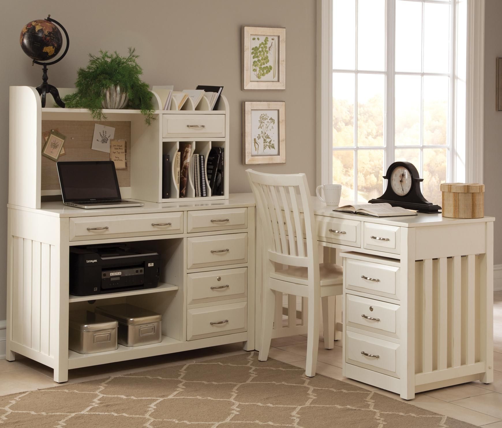High Quality Hampton Bay   White 4 Piece L Shaped Desk By Liberty Furniture | Wolf  Furniture
