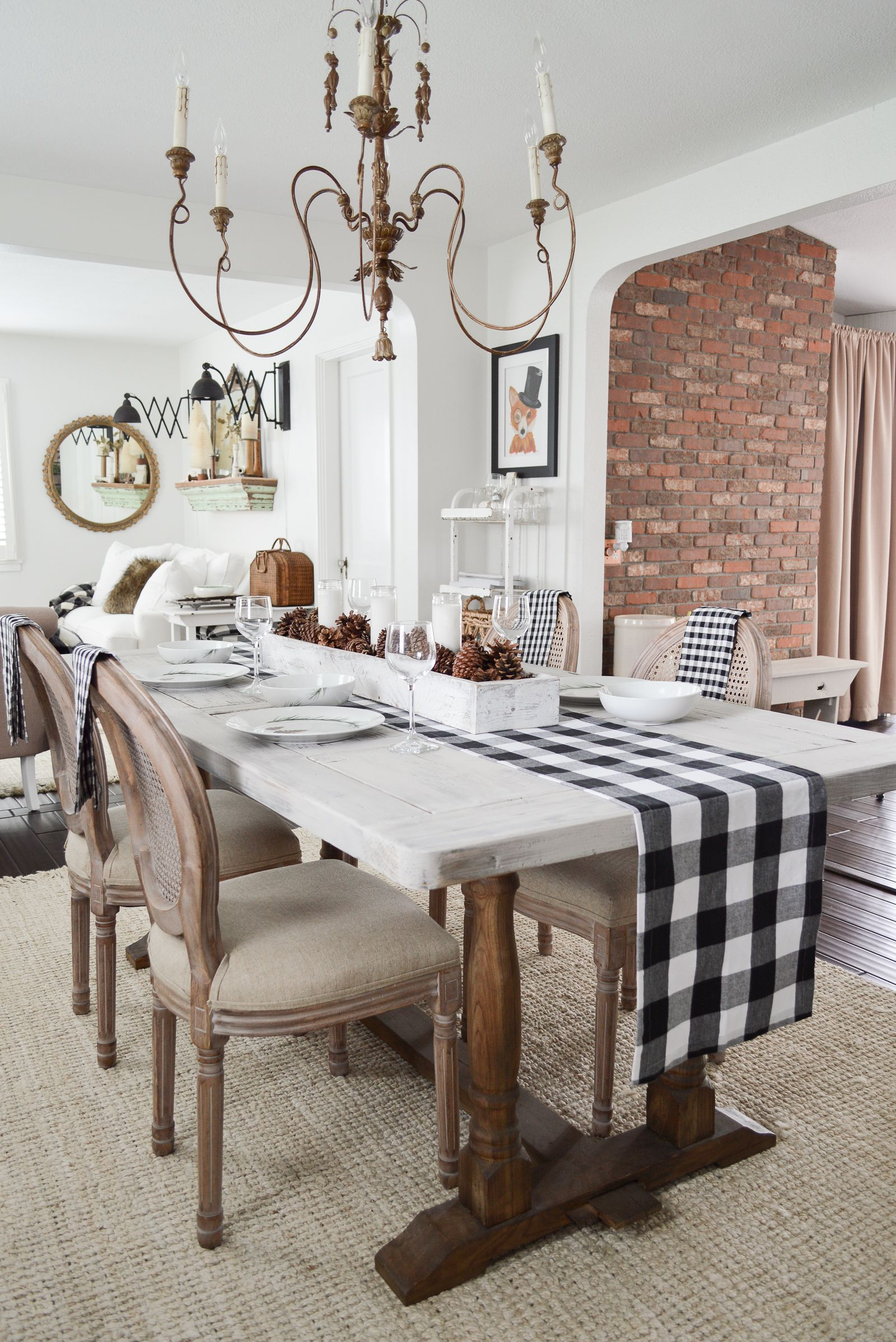 Fresh New Year Winter Home Makeover Farmhouse Dining Room Farmhouse Dining Rooms Decor Cottage Dining Rooms