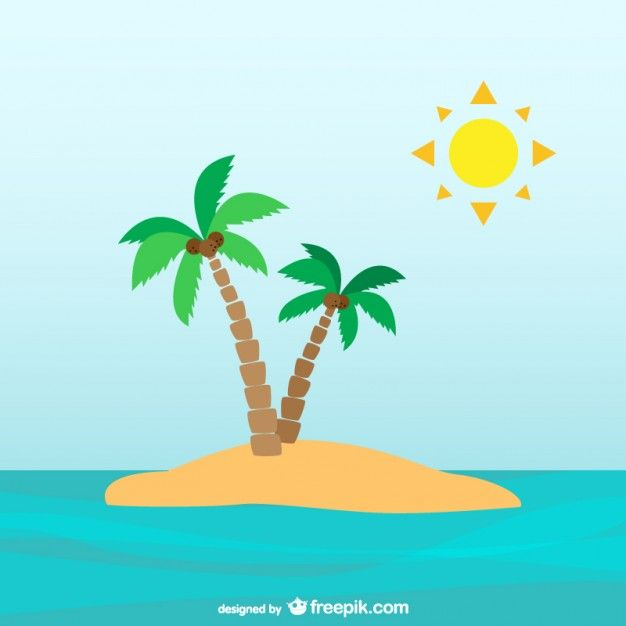 Desert Island Beach: Download Palm Trees On Desert Island For Free