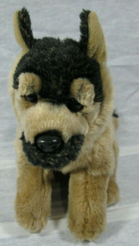 Toys R Us German Shepherd Black Tan 12 Puppy Dog Plush Animal