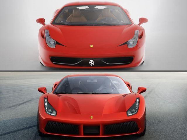 Ferrari 458 Italia Vs 488 Gtb Ferrari 458 Maserati Granturismo Ferrari