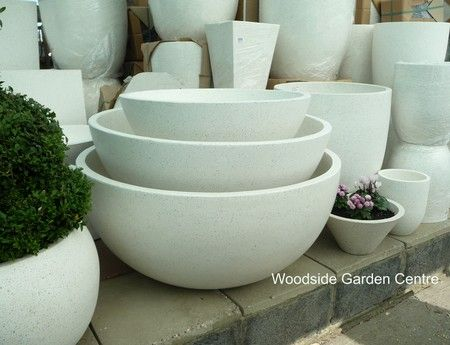 Extra Large Terrazzo Ocean Bowl Round White Planters Woodside Garden Centre Pots To Inspire