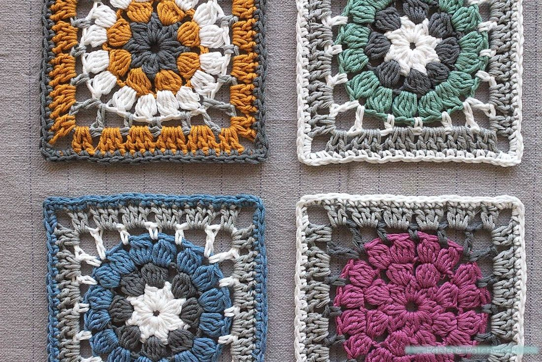 Dally Dahlia Square | Free crochet pattern | Complete colour palette ...