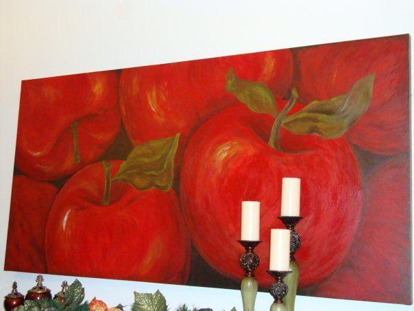 Big apples Acrílico sobre tela