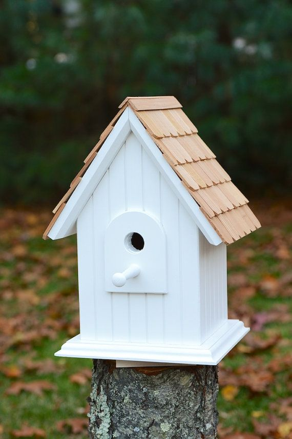 Hand crafted, solid wood birdhouse with cedar shingles - Cape Cod ...