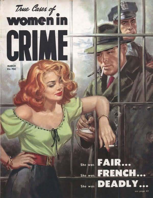 True cases of women in crime magazine vintage detective crime true cases of women in crime magazine vintage fandeluxe Choice Image
