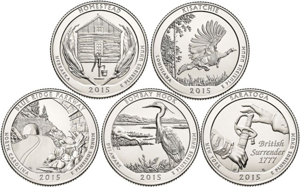 Us Mint 2015 Complete Bu 5 Coin Set National Park Quarters After The Overwhelming Success Of The Us Min Coins America The Beautiful Quarters Coin Collecting