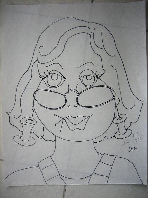 Jen, o desenho de mama