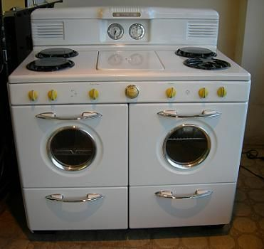 Retro Stove With Cool Yellow Knobs Vintage And Retro Stoves Pinterest Stove Retro And