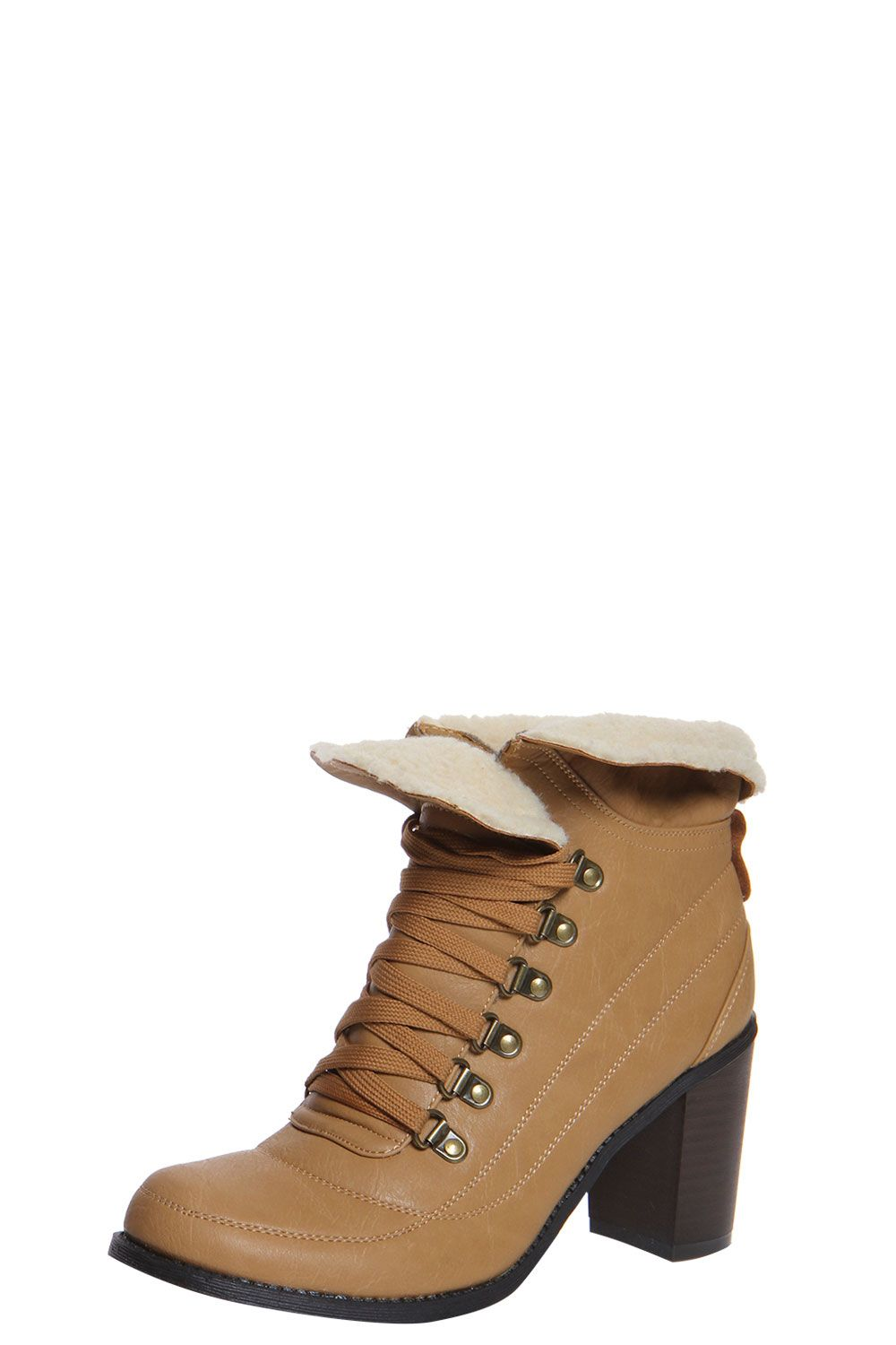 Lavinia Shearling Lined Block Heeled Ankle Boot
