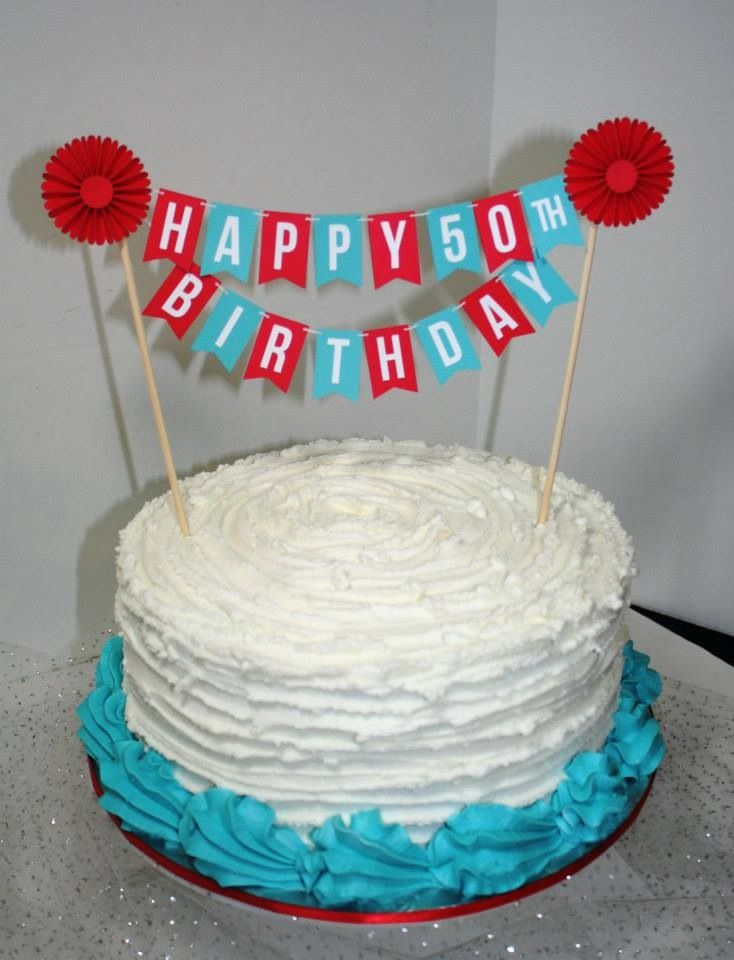 happy birthday banner cake because i like cakes pinterest