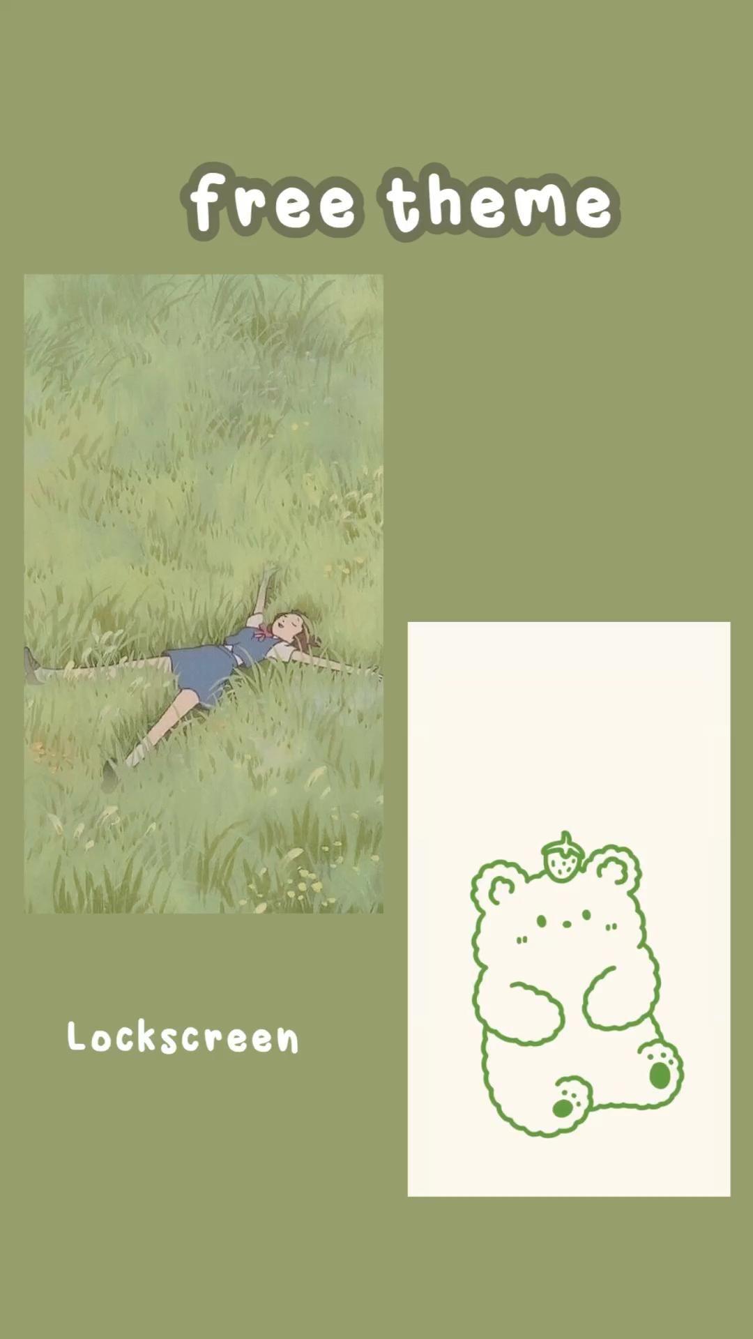 green iOS 14 homescreen
