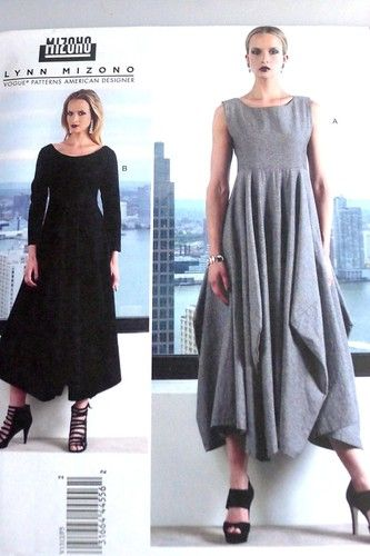 Vogue Designer Lynn Mizono V1312 Misses Dress Sewing Pattern Plus ...