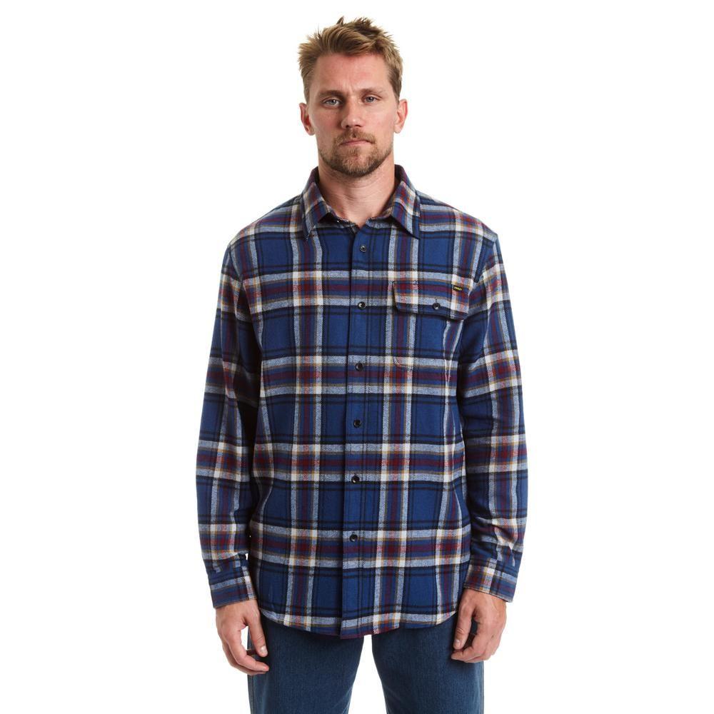 Men's grey flannel trousers  Menus XXLarge Gray Heather Grey Button Front Flannel Shirt