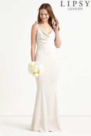 64e1e3f7fb0d4 Buy Lipsy Bridal Cowl Neck Satin Maxi Dress from Next Israel ...