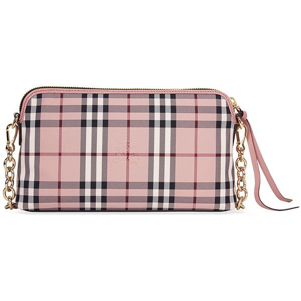 9dffe6de72be Burberry Overdyed Horseferry Check Leather Clutch - Ash Rose Dusty...  ( 1