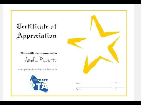 How to quickly make certificate of Appreciation using MS Publisher - ms publisher certificate templates