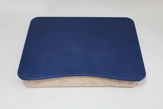 iPad Table /Blue Laptop Stand / Wooden Laptop Bed Tray / Breakfast Serving Tray / Pillow Tray Basic Blue