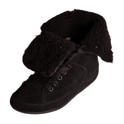 bd2742c66cf1 FITFLOP 257 Womens Ladies Polar Sneaker Black Suede Lace Up Folded Boot.  Great Fitflop folded Sneaker in Great Price!