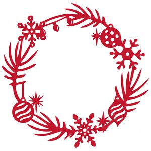 Christmas Wreath Silhouette.I Think I M In Love With This Design From The Silhouette