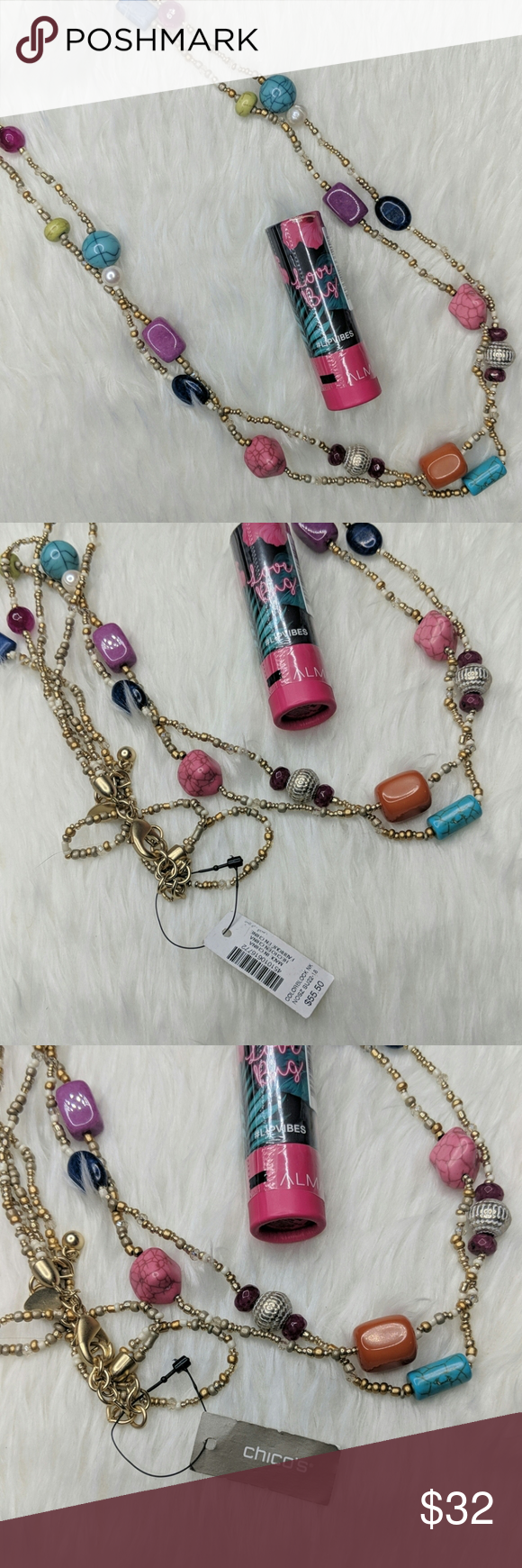 Photo of Almay Big Love Lip Vibes Pink Lipstick & Necklace Both are brand new, you'll rec…
