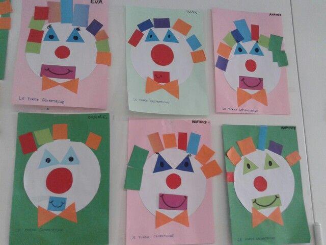 Geometria Bambini ~ Pagliacci in forma le forme geometriche noemi pinterest