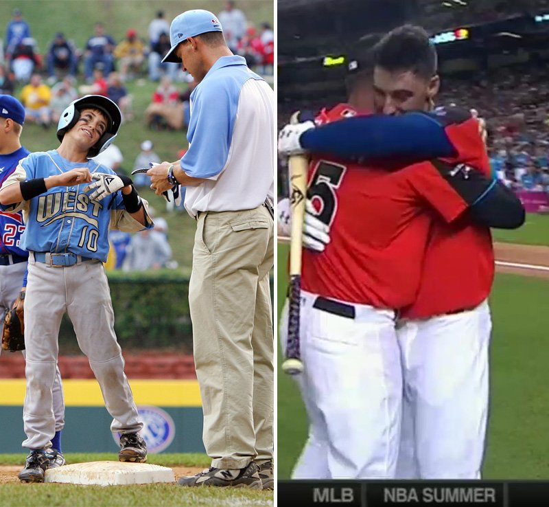 Ten Years Apart Little League World Series And All Star Home Run Derby Baseball Pitching Baseball Little League