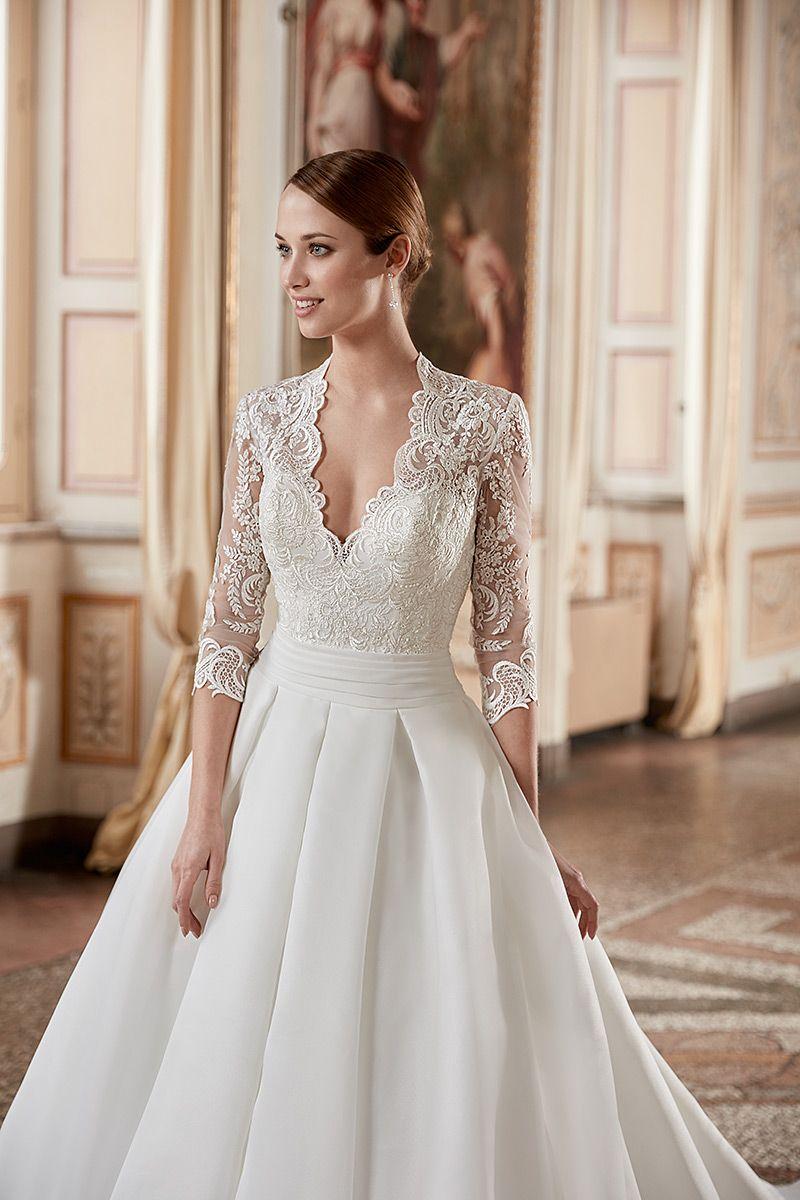 Wedding Dress Ak166 In 2020 Civil Wedding Dresses Silver