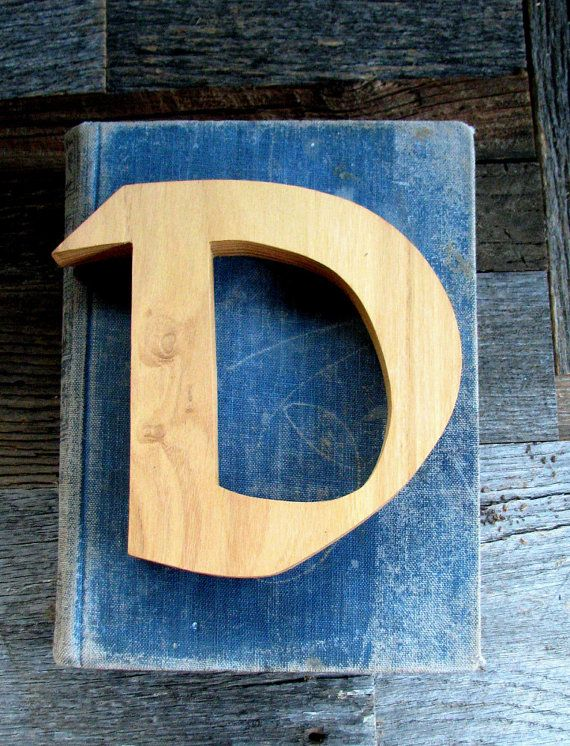 Small Unfinished Wooden Letter d -wall decor | Letras | Pinterest | Etsy
