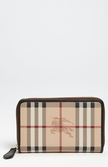 afcd345419af Burberry  Haymarket Check  Compact Zip Around Wallet available at   Nordstrom  495.00