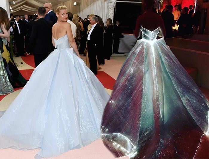 claire danes en la red carpet del met gala 2016 con un vestido