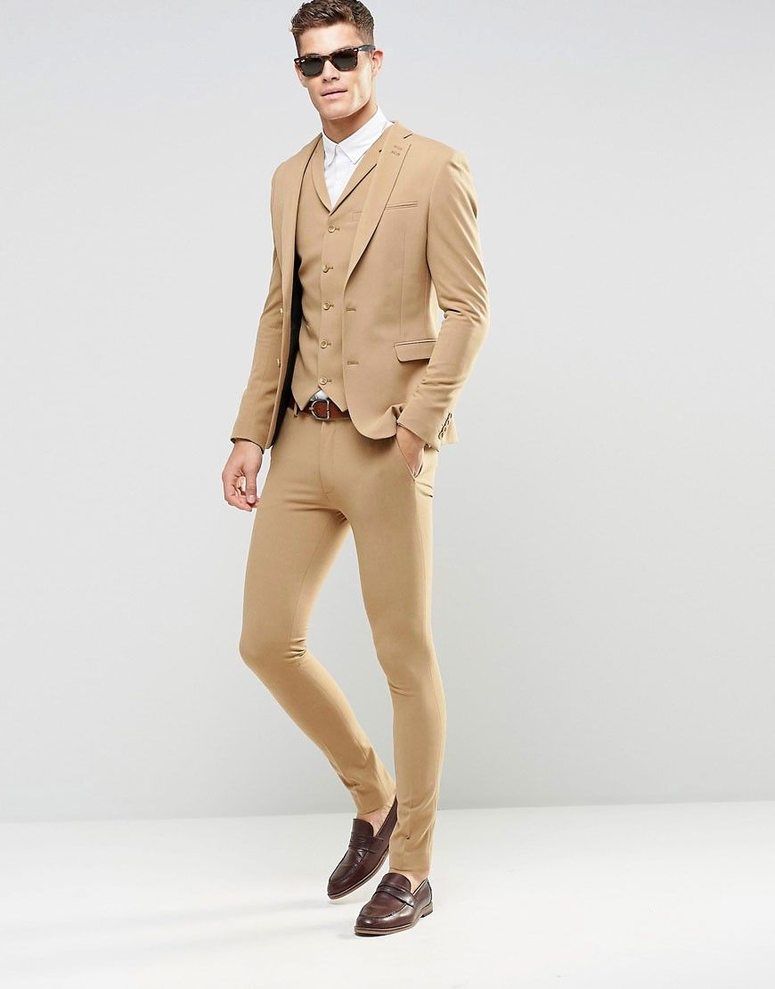 Image 1 of ASOS Super Skinny Fit Suits In Camel | Les Vetements ...