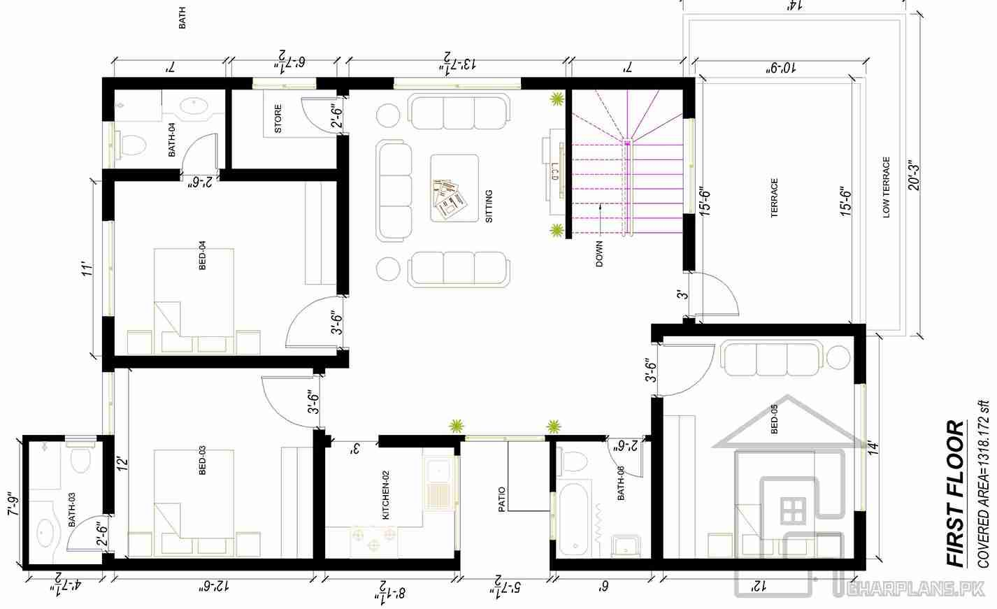 2 storey house design plans first floor House map, Home