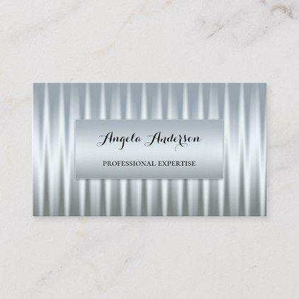 Silver Chrome Metallic Design Business Card Zazzle Com Business Card Design Metal Design Gift Business