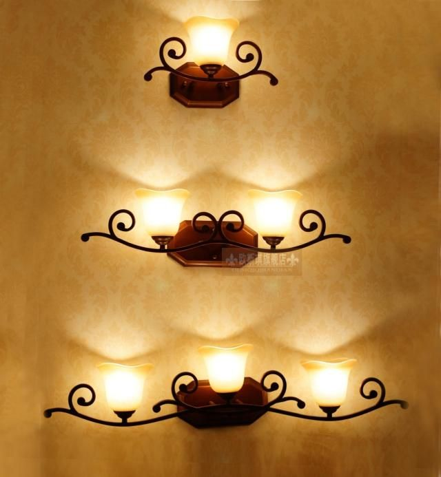$26.85 Iron wall lamp mirror front lamps-ZZKKO | For the Home ...